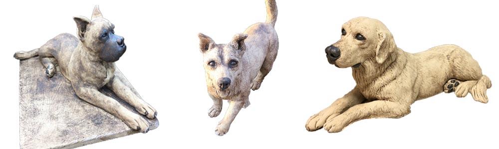 Skulpturen Hund Labrador Boxer
