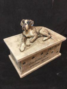 Tierurne Hund Boxer