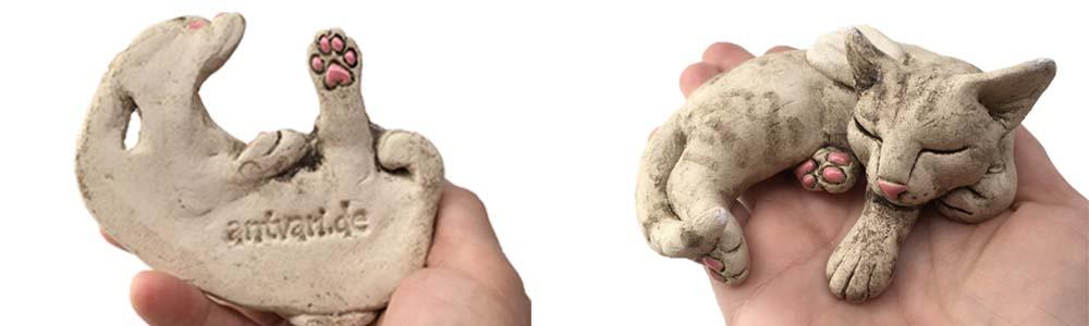 schutzengel katze skulptur handgemacht